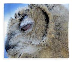 Sleepy Owl Fleece Blanket