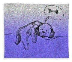 Sleepy Puppy Dreams Fleece Blanket