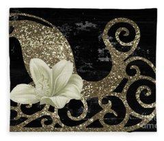Sleigh Petals II Fleece Blanket