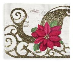Sleigh Petals Fleece Blanket