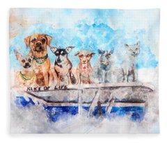 Slice Of Life Watercolor Fleece Blanket