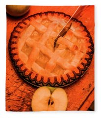Slicing Apple Pie Fleece Blanket