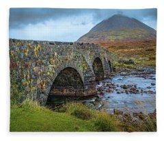 Sligachan Bridge View #h4 Fleece Blanket