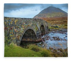 Sligachan Bridge View #h4 Fleece Blanket