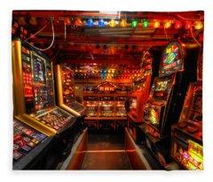 Slot Machines Fleece Blanket