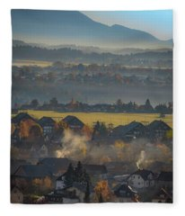 Slovania Lanscape Fleece Blanket