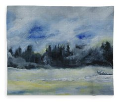 Slow Sail Home Fleece Blanket