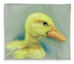 Sly Little Duckling Fleece Blanket