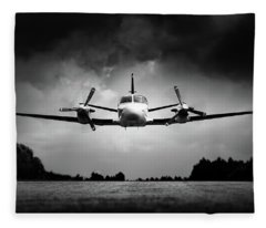 Small Airplane Low Flyby Fleece Blanket