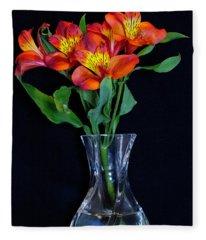 Small Bouquet Of Flowers Fleece Blanket