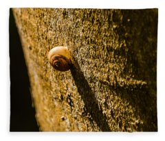 Small Snail On The Tree Fleece Blanket