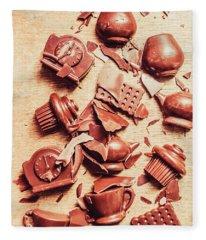 Smashing Chocolate Fondue Party Fleece Blanket