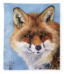 Smiling Fox Fleece Blanket