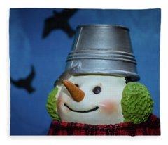 Smiling Snowman Fleece Blanket
