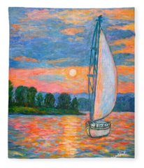 Smith Mountain Lake Fleece Blanket