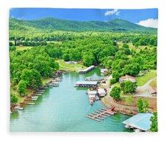 Smith Mountain Lake, Virginia. Fleece Blanket