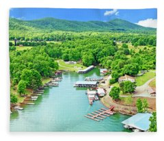 Smith Mountain Lake, Virginia. Fleece Blanket