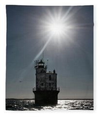 Smith Point Lighthouse Fleece Blanket
