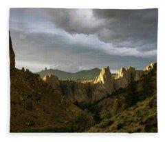 Smith Rock Sky Fleece Blanket