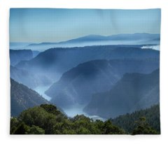 Smoke Over Flaming Gorge Fleece Blanket