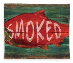Smoked Fish Fleece Blanket