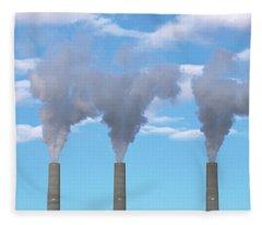 Smokestacks Near Page Arizona Fleece Blanket