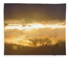 Smokey Sunset Fleece Blanket