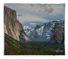 Smokey Yosemite Valley Fleece Blanket