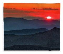 Smokies Sunset Fleece Blanket