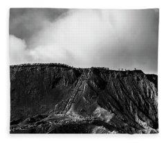 Smoking Volcano Fleece Blanket