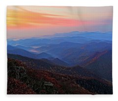 Dawn From Standing Indian Mountain Fleece Blanket