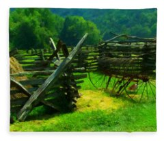 Smoky Mountain Farm 1900s Fleece Blanket