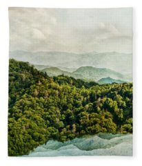 Smoky Mountain Reflections Fleece Blanket