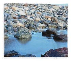 Smooth Rocks Fleece Blanket