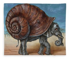Snailephant Fleece Blanket