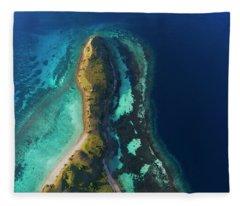 Fleece Blanket featuring the photograph Snake Beach Of Flores Island by Pradeep Raja PRINTS