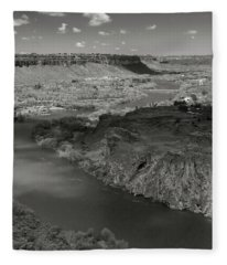 Snake River At Twin Falls Fleece Blanket