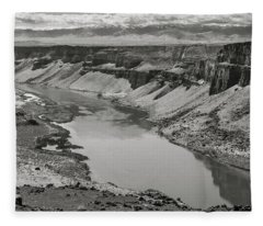Snake River Valley At Swan Falls Fleece Blanket