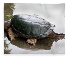 Snapping Turtle Fleece Blanket