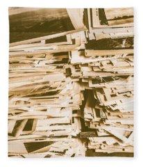 Snapshots From Times Worn Fleece Blanket
