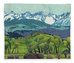 Sneffels Range Spring Fleece Blanket