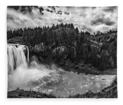 Snoqualmie Falls Fleece Blanket