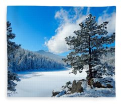 Snow At Beaver Brook Fleece Blanket
