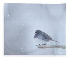 Snow Bird Fleece Blanket