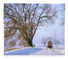 Snow Buggy Fleece Blanket