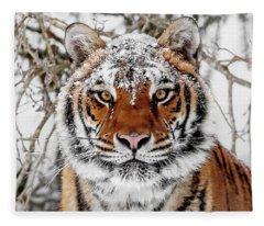 Snow Capped Siberian Fleece Blanket