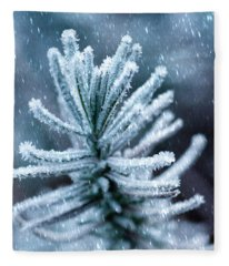 Snow Cover Pine Fleece Blanket