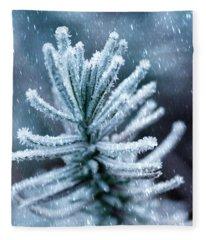 Snow Cover Pine Fleece Blanket
