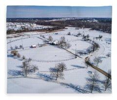 Snow Diamonds Fleece Blanket