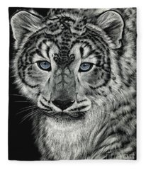 Snow Dragon Leopard Fleece Blanket